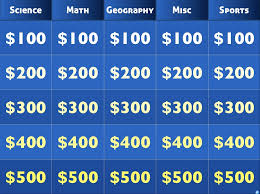 need to check out create your own jeopardy and it u0027s free