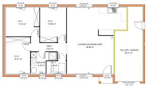 plans maison plain pied 3 chambres maison plain pied trois chambres