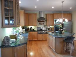 Tops Kitchen Cabinets by Kitchen With Maple Cabinets Granite Counter Tops And Red Oak