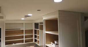 How To Install Kitchen Cabinet Crown Molding Kitchen Cabinets And Uneven Wavy Ceiling