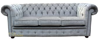 White Leather Chesterfield Sofa Grey Chesterfield Sofa Chesterfield 3 Sofa Settee Silver Birch