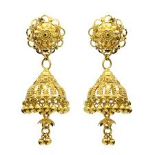 gold jhumka earrings gold jhumka earrings jm458e