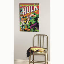 rmk1661slg hulk with wolverine peel u0026 stick comic book cover wall