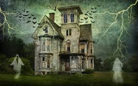 vintage halloween background vintage ghost castle 4k ultra hd wallpaper and background