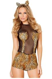 women clothing jungle cat romper costume cosplay carnival
