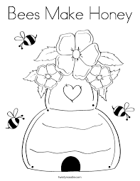 cozy honey coloring page 5 bees make twisty noodle happy for