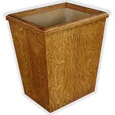 Bedroom Wastebasket Craftsman Style White Oak Wastebasket 13qt This Wood Wastepaper