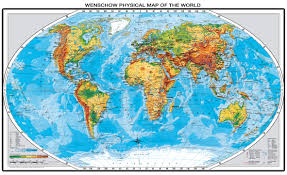 Us Physical Map Wenschow K 12 Classroom Maps World Ex Lg Physical