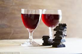 Chocolate Shop Wine Chocolate And Red Wine Are Secret To Beating Wrinkles Daily Mail