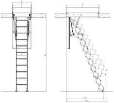 lsf scissors attic ladder fire resistant