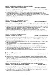 Telecom Project Manager Resume Sample by Test Manager Cv 2015