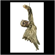 animated hanging zombie halloween prop mad about horror