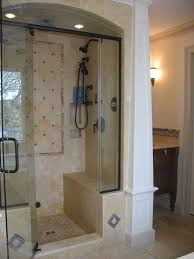 small bathroom walk in shower no door grey decoration bathroom