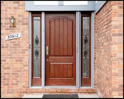decorations futuristic brown home entry door design with brick