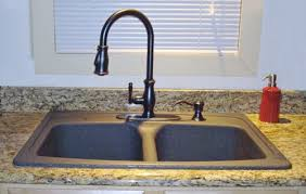 Bronze Faucet For Kitchen Black Granite Kitchen Sink With Bronze Faucet Sink Black Kitchen