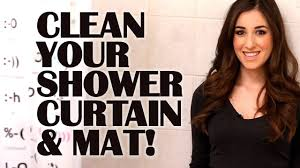 Best Way To Clean Up Hair In Bathroom How To Clean Your Shower Curtain U0026 Mat Easy Bathroom Cleaning