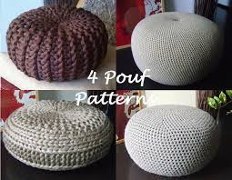 Crochet Ottoman Pattern Crochet Pattern 4 Knitted Crochet Pouf Floor Cushion