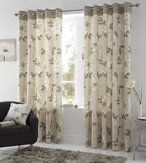 Curtain Pair Annabella Lined Eyelet Curtains Ready Made Ring Top Floral Curtain