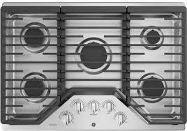 Gas Stainless Steel Cooktop Ge Pgp7030slss 30 Inch Gas Cooktop With Led Backlit Knobs