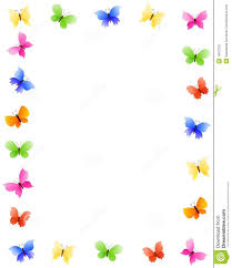 butterfly clipart page border pencil and in color butterfly