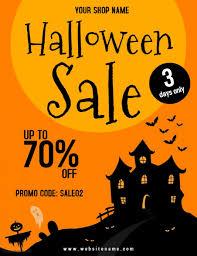 Halloween Sale Halloween Sale Flyer Template Postermywall