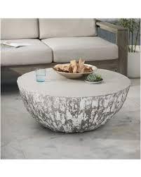 Concrete Coffee Table Amazing Shopping Savings West Elm Concrete Drum Coffee Table