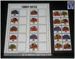 turkey matching board memory cards thanksgiving digital