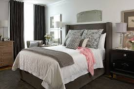 marquee grey upholstered bed