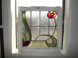 antique stained glass transom window two antique english stained glass window 19 1 2 x 20 1 stained