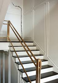 Metal Banister Rail Paper City Entrances Foyers Brass Hand Rail Brass Staircase