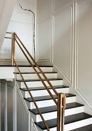 Metal Banister Rail Paper City Entrances Foyers Brass Hand Rail Brass Staircase