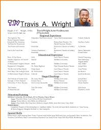Sample Dance Resume For Audition by Actor Resume Template Teller Resume Sample