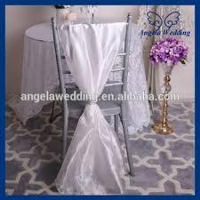 Chair Sashes For Weddings Sh003k New Cheap Elegant Fancy Wedding Ivory Organza Chair Sash