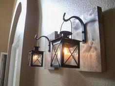 Rustic Bathroom Sconces - rustic gray lantern wall decor rustic bathroom decor wall