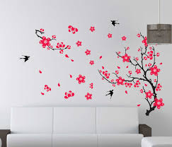 plum type pattern wall stickers wall stickers