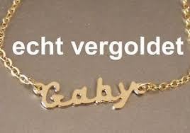 plated name necklace necklace gaby chain real gold plated name name necklace new