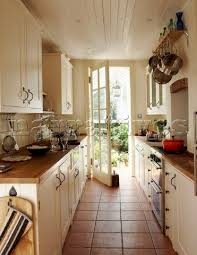 ideas for galley kitchen galley kitchen with a door to a patio is the best kitchen