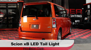 scion cube custom spyder auto installation 2003 07 scion xb led tail lights youtube