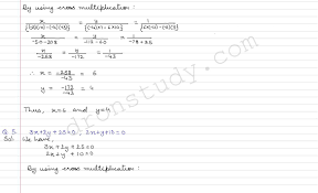 class 10 class x cbse r s aggarwal solutions linear equations