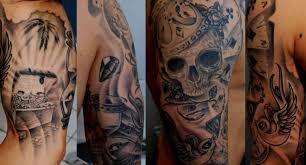 half sleeve tattoos for men black and grey tattoo fantastic