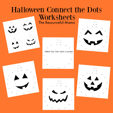 halloween connect the dots worksheets worksheets free printable