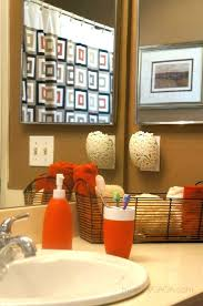 orange bathroom ideas stylist brown and orange bathroom accessories parsmfg