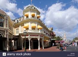 Orlando Awnings Store With Yellow Awnings Along Main Street At Walt Disney Magic
