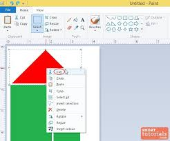 how to cut an image in ms paint windows 8