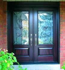 Glass Inserts For Exterior Doors Fiberglass Exterior Doors With Glass Classic Craft Mahogany
