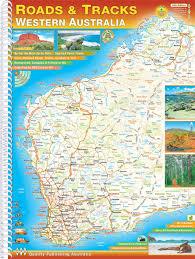 atlas map of australia roads tracks western australia buy road atlas of wa mapworld