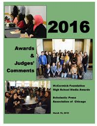 2016 scholastic press association of chicago awards booklet by
