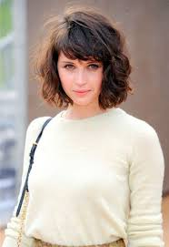 collections of short hairstyles for wavy hair with bangs cute