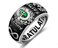 high school senior rings sterling silver class rings