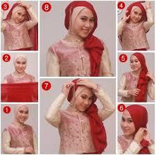 tutorial jilbab segi 4 untuk kebaya cara memakai hijab segi empat untuk baju kebaya